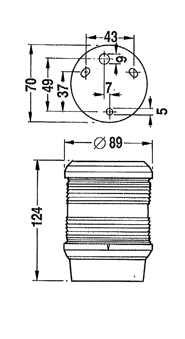 AS40 A-Laterne schwarz 12V/10W