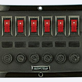 6er Schalttafel 165x114mm